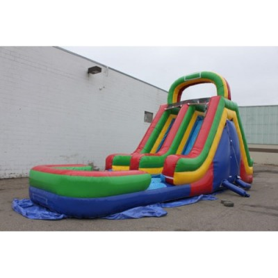 Double Lane Water slide w/pool  $350 dry $400 wet